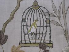 """GP & J BAKER FABRIC DESIGN """"Songbird"""" 6 METRES SILVER/BRONZE EMPEROR'S GARDEN"""
