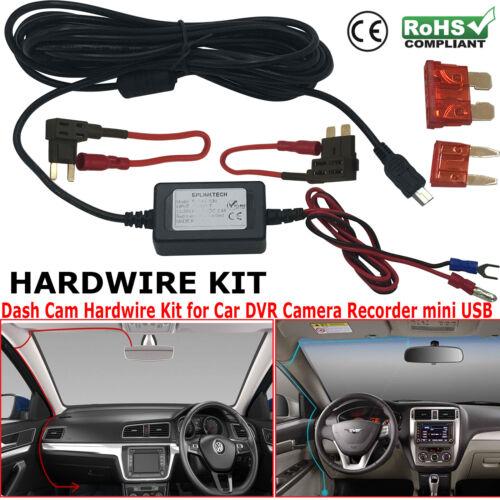 Nextbase Alambre duro Coche Mini USB Cargador DC Power Kit Para DVR Grabadora Cámara en Tablero