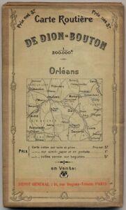 Details about Carte Routière De Dion Bouton 1200.000e 1905