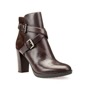 Stivaletti in pelle scamosciata Geox Marrone | Vögele Shoes