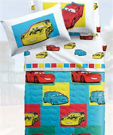 Trapuntino Quilt singolo 1 1 1 piazza Caleffi Cars mod. Friends  33842c