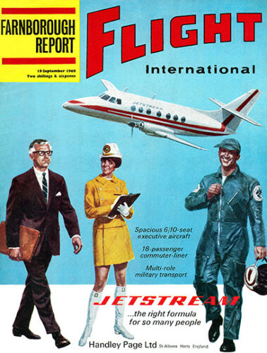 Vintage Aviation Magazine cover poster reproduction. Flight