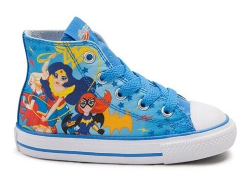 3 Converse Youth All Star Hi Superhero Girls Sneaker Italy Blue//White Size