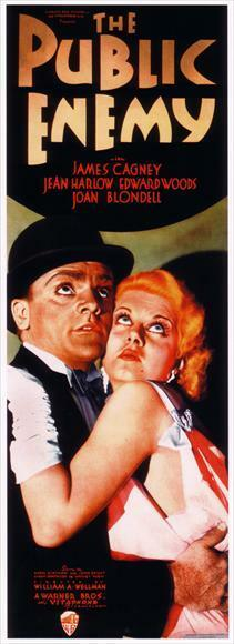 1931 Jean Harlow James Cagney movie poster 24x36 inches The Public Enemy