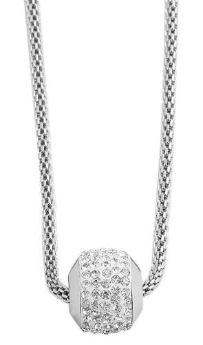 Schlangenkette Halskette Edelstahl Anhänger mit Strass Steinen 45 cm Hals Kette