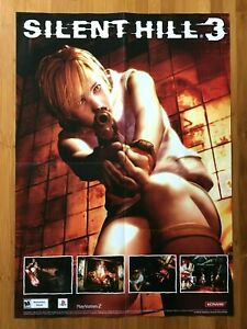 2003 Official Silent Hill 3 Foldout Poster PS2 Playstation 2 Survival Horror