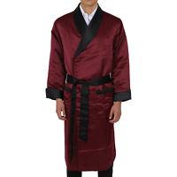 Satin Robe –mens -long Fully Lined – - Heavy Weight