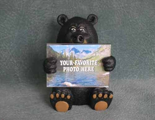 WOOD BADGE 3D BEAR PICTURE FRAME WOODBADGE