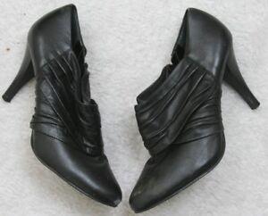 Women-039-s-Side-Zip-Dress-Shoes-Heels-Alfani-Solid-Black-8-Eight-3-5-inch-Heel