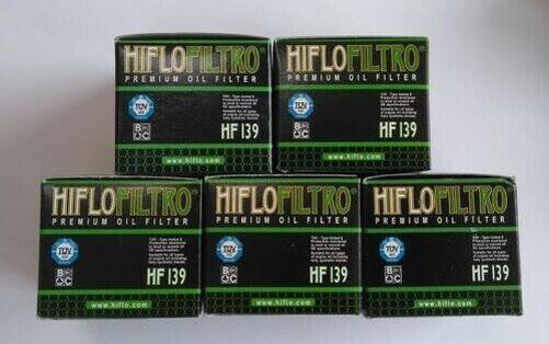 Hiflofiltro Oil Filter (x 5) Fits SUZUKI LTR450 QUADRACER (2006 to 2009)
