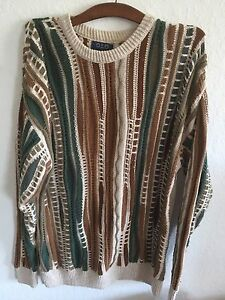 Vintage Coogi Inspired Bill Cosby Biggie Smalls Sweater Mens Large