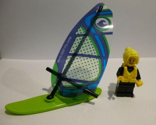 1 x LEGO® 60153  Minifigur Surfbrett,Segel,Schwimmweste wie auf dem Foto Neuware