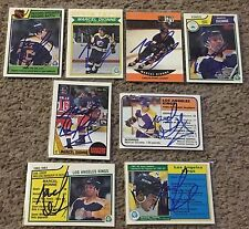 LOT OF (16) MARCEL DIONNE SIGNED  AUTOGRAPHED HOCKEY CARDS! PRIVATE SIGNING!