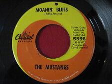 RARE BLUES ROCK 45 - THE MUSTANGS - MOANIN BLUES - CAPITOL 5596 DAVID AXELROD