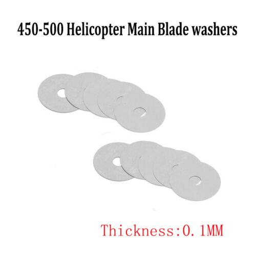 10Pcs 0.1 mm Joint Principal Lame Rondelle pour 450-500 ALZRC Devil X360 Hélicoptère