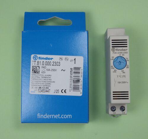 7 T .81 .0 .000 2303-Finder Relais Thermostat 1 contacts NO panneau bleu