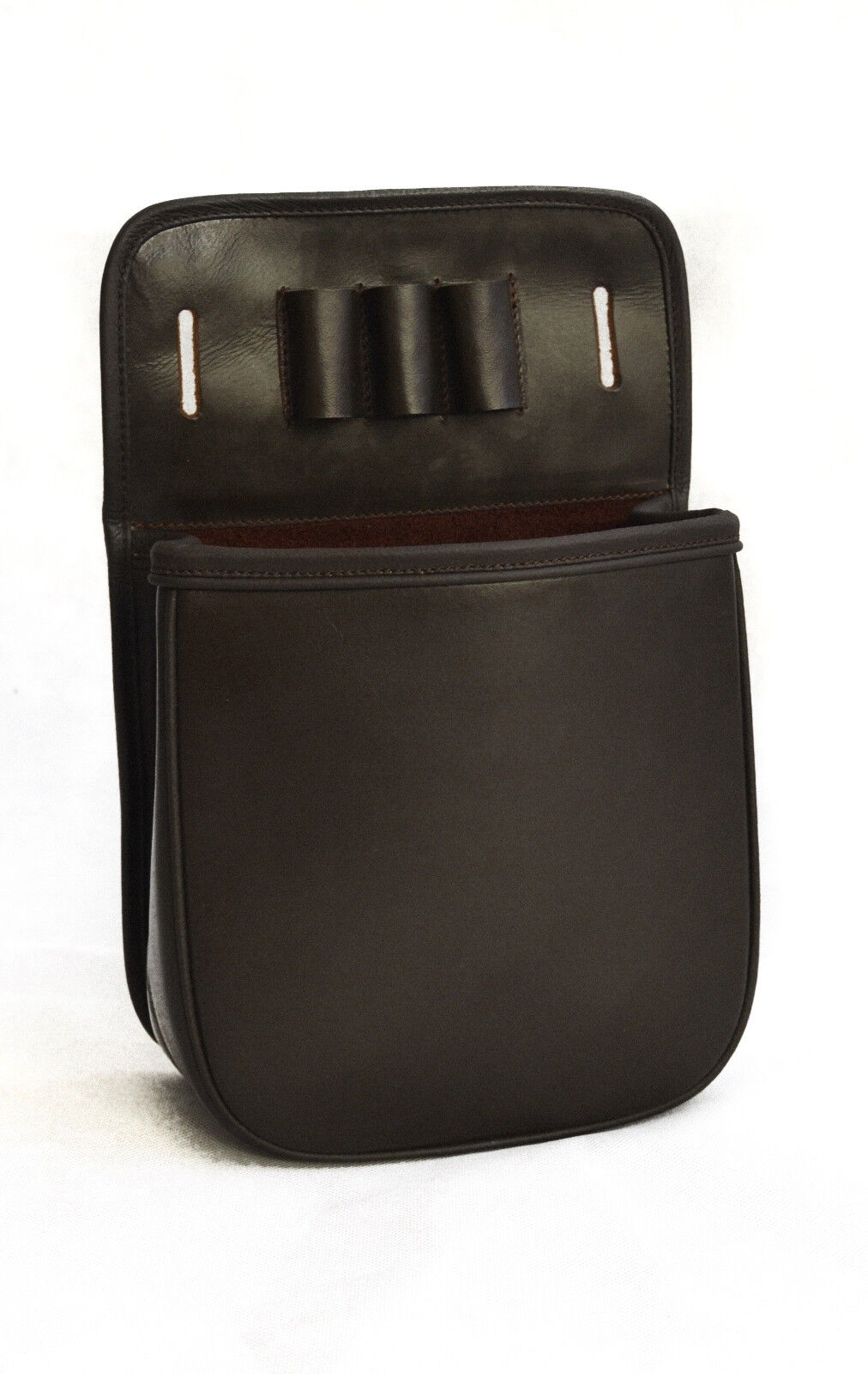 Oak Brown Leather Shooting Shotgun 50 Cartridge Pouch & Belt