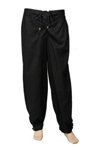 Unisex Caribbean Pirate Renaissance Wench Medieval Costume Maroon Harem Trouser