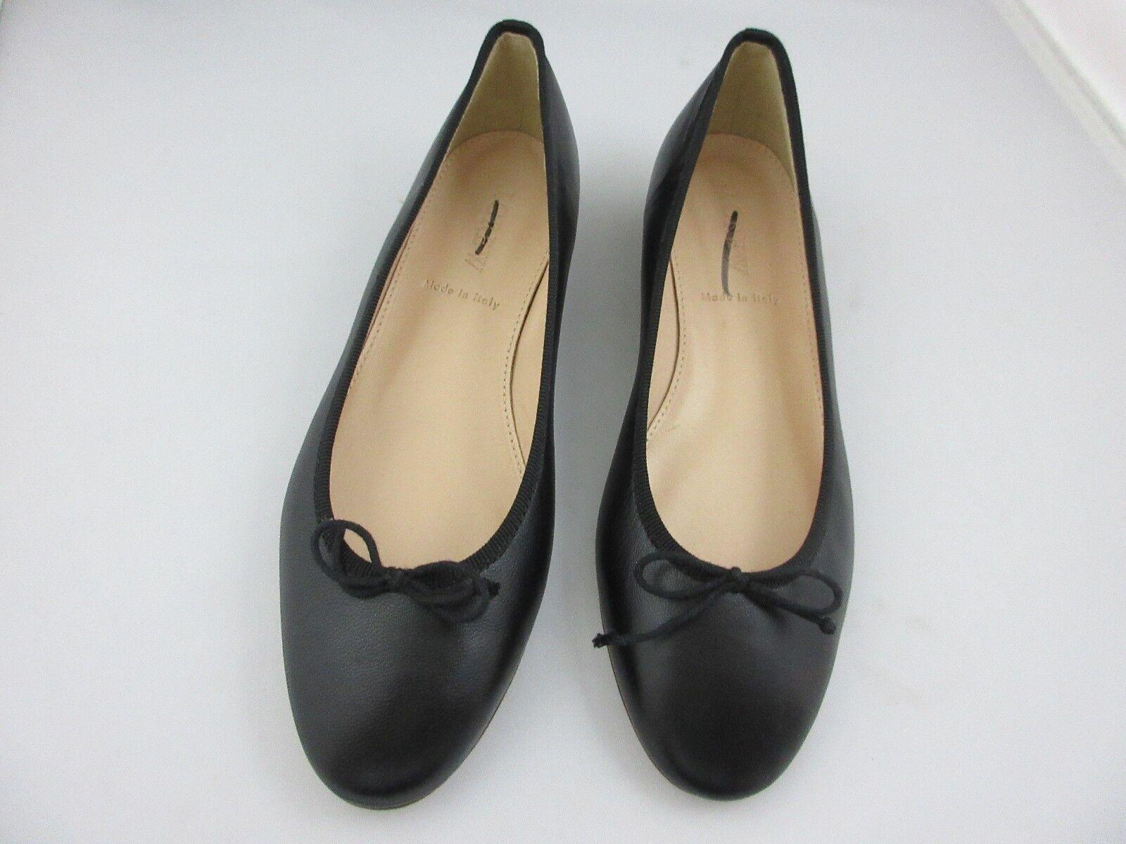 J. Crew Kiki Ballet Flats Flats Flats Shoes Black Italian Leather Women's Sz 5.5 Style F5510 751e4c
