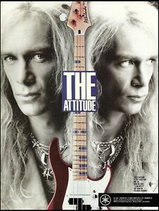 Billy Sheehan 1991 Yamaha Attitude Bass guitar advertisement 8 x 11 ad print