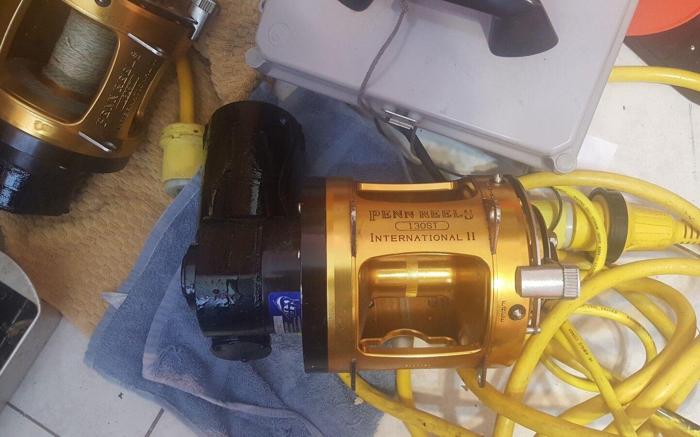 Lindgren-Pitman 24 Volt  Electric Fishing Reel Penn INTERNATIONAL 130ST 2 SPEED