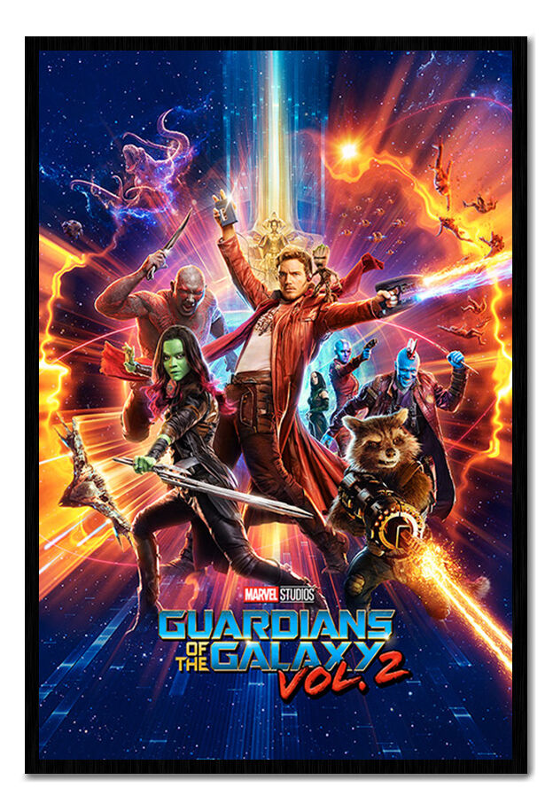 Guardians Of The Galaxy Vol 2 One Sheet Poster Framed Cork Pin Notice Board