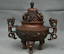 8-8-034-Marked-Old-China-Qing-Red-Copper-Dynasty-Dragon-Beast-Incense-Burner-Censer thumbnail 6