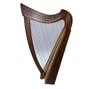 IRISCH KELTISCHE HARFE 22 SAITEN mit Halbtonklappen HARPE ARPE HARP Lyra-Lyre