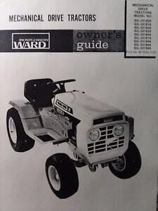 Montgomery Ward Gilson Gear Drive Lawn Garden Tractor Owners Manual  GIL-33180A   eBayeBay
