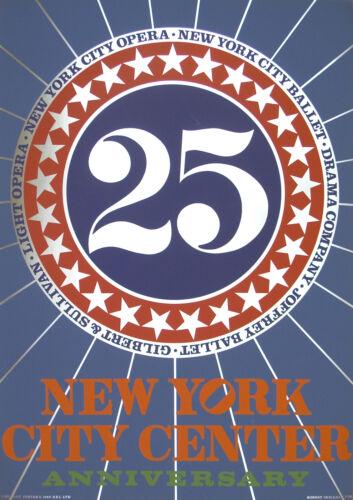 Robert Indiana-New York City Center-1968 Serigraph