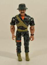 Vintage 1986 Green Camouflage Soldier w/ Floppy Hat Lanard Action Figure