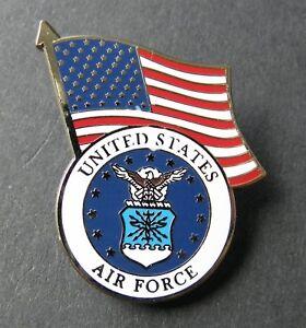 USAF-US-AIR-FORCE-LOGO-USA-FLAG-LAPEL-PIN-BADGE-1-INCH