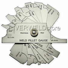 Welding Fillet Weld Set Gage Gauge Inspection Test 7piece RL Ulnar Metric Inch 7