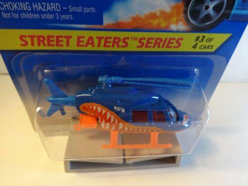 "Hot Wheels /""Street Eaters/"" Blue Propper Chopper Helicopter PKG# 414 MIB"