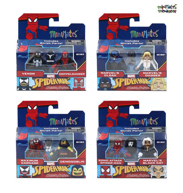 Marvel Marvel Marvel Minimates Series 76 Maximum Carnage Complete Set w  Shriek Build-A-Figure c36ec7