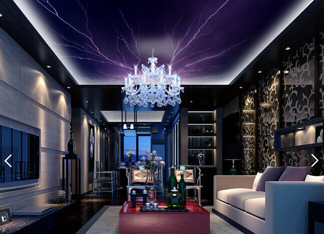 3D Purple Lightning Sky 784 Wall Paper Wall Print Decal Wall Deco AJ WALLPAPER