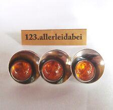 N.E.From 925 er Silber Bernstein Brosche Erik Nils DENMARK old amber / WW 244