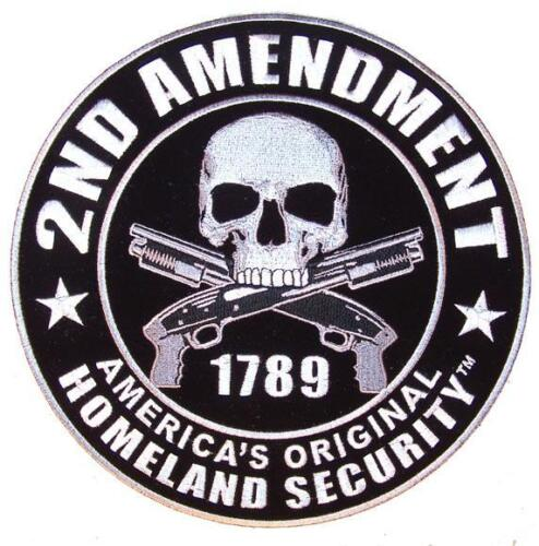 DELUXE JUMBO EMBROIDERIED 2nd AMENDMENT HOMELAND SECURITY PATCH protect GUNS #58