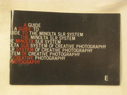 vintage MINOLTA SLR System photography manual guide original booklet SLR SYSX