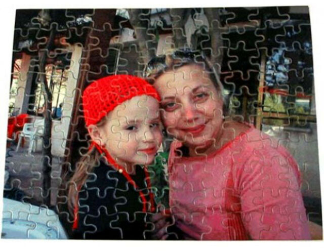 PERSONALISED PHOTO COLLAGE JIGSAW PUZZLE A4 120 PIECE GIFT IDEA