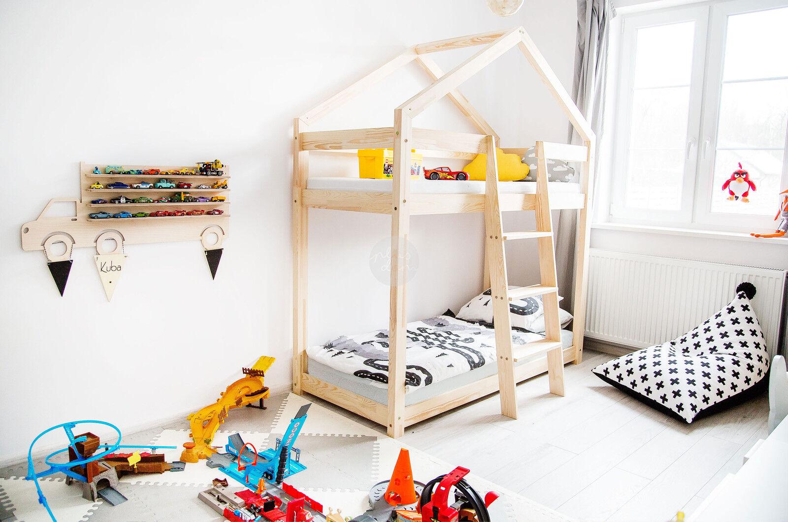 Lit enfant-Maison en bois Lit pour enfants Talo d5 80x190 cm
