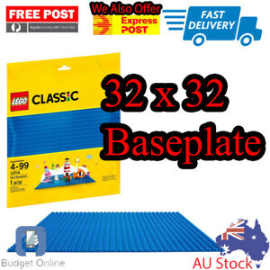 Lego-Classic-Building-Accessories-Blue-Baseplate-base-plate-10714-32x32-studs