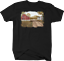 American Flag on Red Barn Farm Field Ranch Wilderness Nature T-shirt