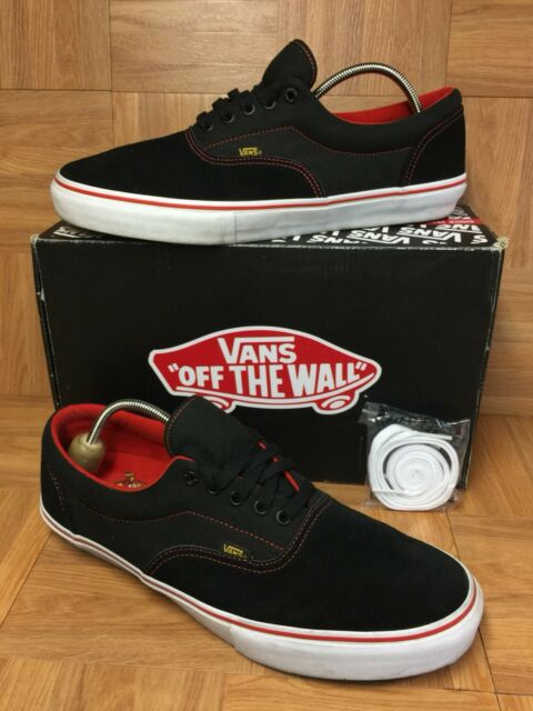 1fcbfd7d21 RARE🔥 VANS Vault Era Pro Black Label Classic Size 13 Skateboarding Shoes  Red LE
