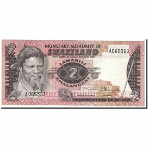 Unc To Enjoy High Reputation At Home And Abroad 1974 Km:2a Swaziland Strict 2 Emalangeni Undated Banknote #122099 64