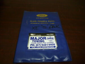 GENUINE-XE-FALCON-FAIRMONT-GHIA-OWNERS-HANDBOOK-AND-SERVICE-MANUAL