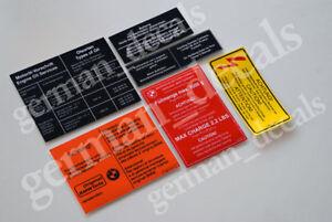Bmw E12 E21 E23 E24 E28 E30 Restoration Decals Stickers Engine