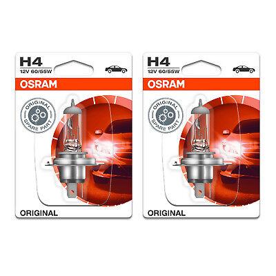 2x Peugeot Partner Genuine Osram Original Low Dip Beam Headlight Bulbs Pair