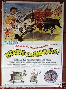 Detalhes Sobre Herbie Goes Bananas Walt Disney 39x27 Original Cartaz Filme Libanesas Anos 80 Mostrar Título No Original