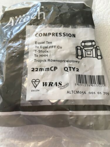 22MM CHROME PLATED COMPRESSION TEE QTY OF 2 ALTECH - ALTCM056